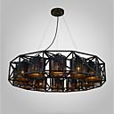 billiga Hårförlängningar i naturlig färg-Hängande lampor Fluorescerande svart Metall Tyg Ministil, designers 220-240V / 100-120V Glödlampa inte inkluderad