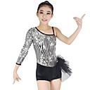 preiswerte Kindertanzkleidung-Jazz Kleider Damen Leistung Elasthan / Lycra Rüschen / Pailetten Normal Gymnastikanzug / Einteiler / Kopfbedeckung