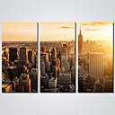 abordables Impresiones en Lienzo Estirado-Impresiones en Lienzo Estirado Tres Paneles Lona Horizontal Estampado Decoración de pared Decoración hogareña