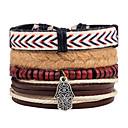 cheap Men's Bracelets-Men's Strand Bracelet Wrap Bracelet Leather Bracelet - Leather Evil Eye Personalized, Rock Bracelet Beige For Daily Casual Stage