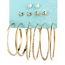 cheap Earrings-6pcs Women's Crystal Earrings - Crystal Imitation Pearl Ladies Personalized Fashion Jewelry Gold / Silver For Daily Casual Evening Party Formal Date