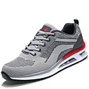 cheap Men's Athletic Shoes-Men's Light Soles Mesh / PU(Polyurethane) Spring / Fall Comfort Athletic Shoes Gray / Red / Black / Red