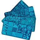 olcso Strassz&Dekorációk-20pcs/set Nail Art Tool Köröm DIY eszközök Körömlakkoló eszközök Sablon Divatos dizájn köröm művészet manikűr Pedikűr Stílusos / Professzionális / Mintás / bélyegzés Plate