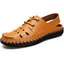 cheap Men's Sneakers-Men's Light Soles Cowhide Summer Comfort Sandals Water Shoes Black / Yellow / Brown