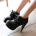preiswerte Damen Stiefel-Damen Schuhe Nubukleder / PU Frühling Komfort Stiefel Schwarz / Beige / Braun