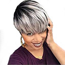 tanie Dopinki w naturalnych kolorach-Peruki bez czepka z naturalnych włosów Włosy naturalne Prosto Tkany maszynowo Peruka / Prosta
