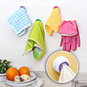 cheap Eyelash Implements-4Pc Set Washing Cloth Clip Hanger Sucker Holder Dishclout Storage Rack Bathroom Kitchen Storage Hand Towel Hook