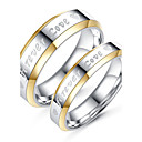cheap Wallets-Couple's Couple Rings - Simple Style, Fashion, Elegant 6 / 7 / 8 Titanium For Wedding / Engagement / Daily