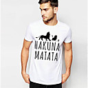cheap Totes-Men's Basic Cotton Slim T-shirt - Letter Print Round Neck / Short Sleeve