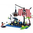 זול Building Blocks-ENLIGHTEN אבני בניין בניה צעצועים הגדר צעצוע חינוכי פיראט ספינה שודדי ים ספינת פיראטים יוניסקס בנים בנות צעצועים מתנות