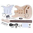 cheap Chandeliers-ST Style Electric Guitar Basswood Body Maple Neck Rosewood Fingerboard DIY Kit Set