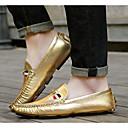 billige Slip-ons og loafers til herrer-Herre sko Lakklær Vår Komfort En pedal Gull / Sølv / Grå