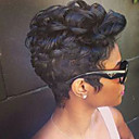 cheap Synthetic Wigs-Synthetic Wig Curly Synthetic Hair Black Wig Women's Short Capless