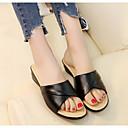 baratos Sandálias Femininas-Mulheres Sapatos Couro Ecológico Verão Conforto Sandálias para Casual Preto Bege Vinho