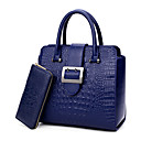 cheap Intermediate School Bags-Women's Bags PU Bag Set 2 Pieces Purse Set Blue / Black / Red