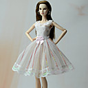 cheap Lolita Wigs-Dresses Princess Dresses For Barbie Doll Poly/Cotton Lace Dress For Girl's Doll Toy