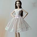 olcso Kigurumi pizsamák-Ruhák Hercegnő Ruhák mert Barbie baba Poli / pamut Csipke Ruha mert Lány Doll Toy
