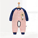 cheap Baby Boys' One-Piece-Baby Boys' Geometic One-Pieces, Cotton Winter Fall Blue Yellow