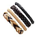 cheap Men's Bracelets-Men's Leather Bracelet - Leather Personalized, Rock Bracelet Beige For Stage Street