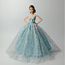 cheap Men's & Women's Halloween Costumes-Dresses Dress For Barbie Doll Linen/Cotton Blend Satin/ Tulle Dress For Girl's Doll Toy