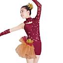 abordables Ropa de Jazz-Zapatillas de Ballet Leotardos Mujer Rendimiento Encaje / Tul / Licra Lentejuela / Encaje Manga Larga Cintura Media / Danza Moderna / Jazz / Desempeño