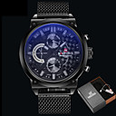 cheap Bakeware-Men's Wrist Watch Chinese Water Resistant / Water Proof / Creative Alloy Band Luxury / Casual / Fashion Black / Stainless Steel / Maxell2025 / Two Years