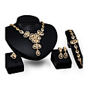 cheap Jewelry Sets-Women's Jewelry Set - Gold Plated Flower Personalized, Fashion Include Pendant Necklace Gold For Party / Engagement