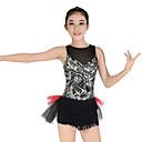abordables Ropa de Baile para Niños-Jazz Vestidos Mujer Rendimiento Elástico / Licra Volantes / Lentejuela Sin Mangas Cintura Media Vestido / Para la Cabeza