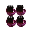 cheap One Pack Hair-Brazilian Hair Body Wave Ombre Hair Weaves Human Hair Weaves Black / Purple Human Hair Extensions