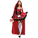 cheap Halloween & Carnival Costumes-Little Red Riding Hood Cosplay Costume Masquerade Female Halloween Carnival Festival / Holiday Halloween Costumes Red Others Vintage
