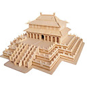 cheap Masks-3D Puzzle Jigsaw Puzzle Famous buildings DIY Wood Natural Wood Chinese Style Kid's Unisex Gift