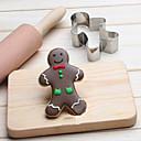 billige Cookieværktøjer-Bageværktøj Rustfrit Stål Børn / Bagning Værktøj / Kreativ Køkkengadget Brød / Småkage / Tærte 3D tegneserie / Dyr Cookieværktøjer 1pc