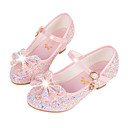 cheap Girls' Shoes-Girls' Shoes Synthetic Microfiber PU Fall / Winter Comfort / Novelty / Flower Girl Shoes Flats Sequin / Buckle for White / Blue / Pink
