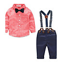 cheap Boys' Clothing Sets-Boys' Polka Dot Other Clothing Set, Cotton Polyester Spring Fall Blue Green Red