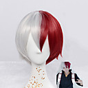 cheap Anime Cosplay Wigs-Synthetic Wig Straight / Natural Wave Synthetic Hair Red Wig Short Capless