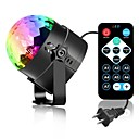cheap Night Lights-3W 3 LEDs Decorative Remote-Controlled LED Stage Lights RGB AC85-265