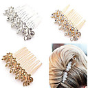 cheap Party Headpieces-Crystal Alloy Hair Combs Headwear Hair Stick with Floral 1pc Wedding Special Occasion Anniversary Congratulations Office / Career