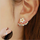 cheap Jewelry Sets-Women's Crystal Stud Earrings / Front Back Earrings / Ear Jacket - Sterling Silver, Crystal, S925 Sterling Silver Flower, Daisy Elegant Gold / Silver / Rose Gold For Christmas / Wedding / Party