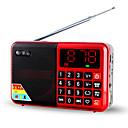 cheap Radio-L63 FM Portable Radio TF Card World Receiver Silver / Red