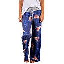 cheap Rings-Women's Active / Boho Loose / Wide Leg / Sweatpants Pants - Floral Floral Blue / Going out