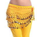 cheap Holiday Deals-Belly Dance Hip Scarves Women's Performance Chiffon Copper Coin Hip Scarf