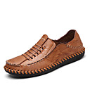 cheap Men's Oxfords-Men's Moccasin Nappa Leather Summer / Fall Loafers & Slip-Ons Black / Light Brown / Party & Evening
