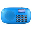 cheap Radio-X360 FM Portable Radio Alarm Clock / Sleep Timer SD Card World Receiver White / Red / Blue