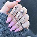 olcso Divatos gyűrű-Női Gyűrű - Ötvözet Leaf Shape, Virág Egyedi Egy méret Ezüst Kompatibilitás Ajándék Napi