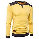 baratos Colchas e Acolchoados-Homens Camiseta Estampa Colorida Algodão Decote Redondo