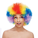 cheap Costume Wigs-Synthetic Wig / Cosplay & Costume Wigs Curly Synthetic Hair African American Wig Red Wig Medium Length Capless