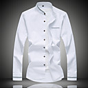 cheap Men's Oxfords-Men's Cotton Shirt - Solid Colored Standing Collar