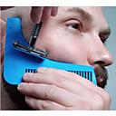abordables Salud durante el viaje-peine que forma la plantilla del modelo peine de la barba peine todo junto de la herramienta para la plantilla del ajuste de la barba del pelo