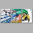 cheap Animal Paintings-Oil Painting Hand Painted - Animals Modern / Contemporary Canvas