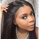 cheap Human Hair Wigs-Remy Human Hair Unprocessed Human Hair 6x13 Closure Lace Front Wig Malaysian Hair Silky Straight Brown Wig Middle Part Deep Parting 130% 150% 180% Density with Baby Hair Unprocessed Pre-Plucked